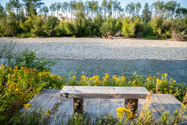 Methow River bench